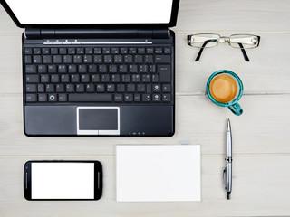 Desktop business office desk items