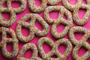 Pretzels and sprinkles