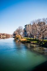 Vue sur le Rhône depuis le Pont d'Avignon