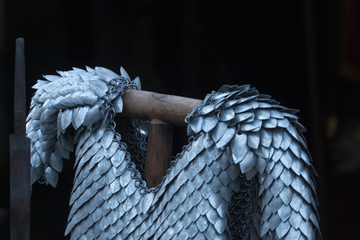 medieval scale armor vest