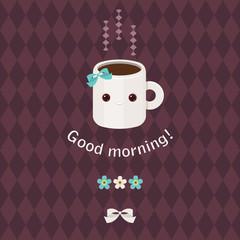 Good morning beautiful greeting card