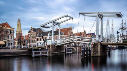 Old bridge in Haarlem, The Netherlands.