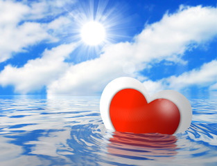 Sinking/Floating Valentine's Day Love Heart