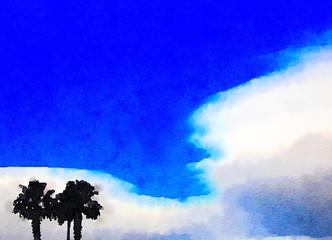 Three Palms in the Desert