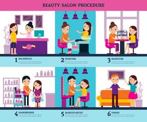 Beauty Salon People Template
