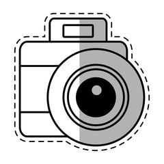 photo camera picture vacation travel shadow vector illustration eps 10