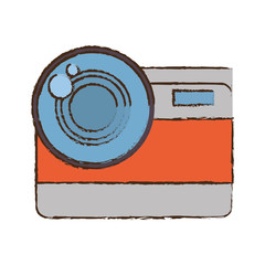 photo camera picture vacation travel color sketch vector illustration eps 10