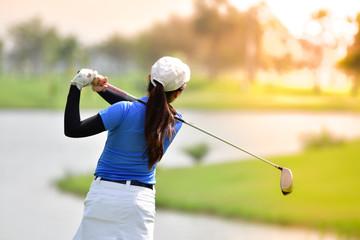 Foto op Aluminium Golf Golfer hitting golf shot.