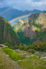 Machu Picchu, Peru - double rainbow