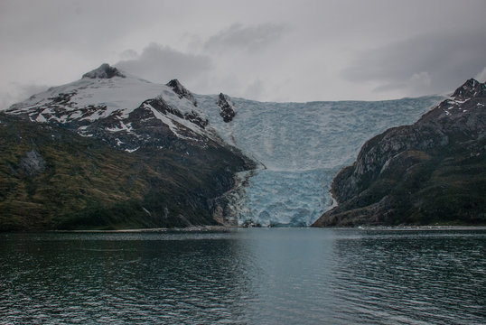 Glacier Entering Beagle Channel