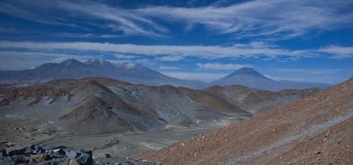 Road from Matarani to Arequipa, Peru