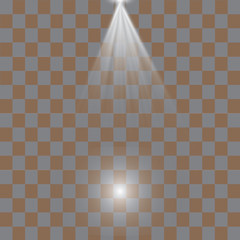Set of glowing light effects with transparency, isolated on black background vector. Glare, rays, stars.