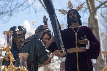 Jesús con la cruz al hombro, Hermandades de penitencia de la semana santa de Sevilla, La Paz