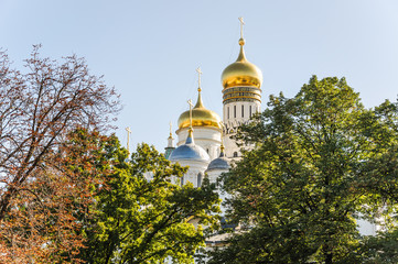 Dome of the historical-architectural ensemble of the Moscow Kremlin. Ivan the Great Bell Tower