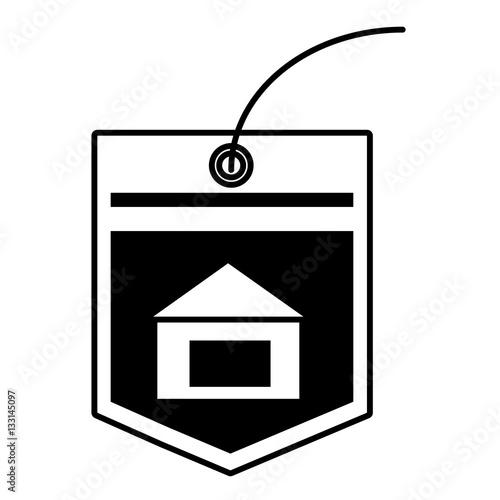 """""""tag price bulilding property outline vector illustration ..."""