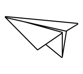 paper plane model air outline vector illustration eps 10