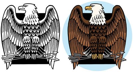 American bald eagle icon