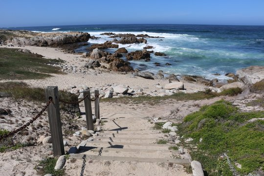 Stairs to Beach in Monterey Bay