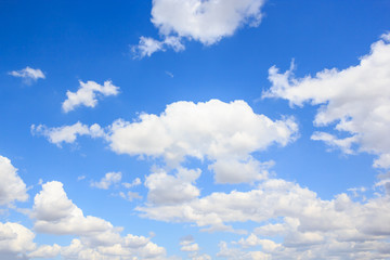 Cloud with blue sky background.