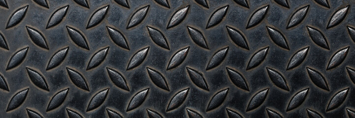 empty real diamond plate steel for pattern and background