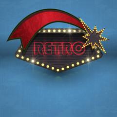 retro road sign vector vintage element