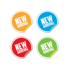 Colorful New Arrival Sticker Labels