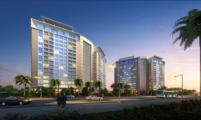 3D Rendering of modern residential