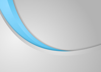 Abstract corporate blue grey wavy background