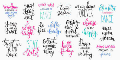 Lettering photography overlay set
