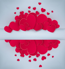 Vector festive background Valentine's Day. Template for postcard