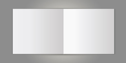 blank picture photo page frame template set isolated on grey wall white blank sheet of paper on the light grey background, mock-up illustration (poster, picture frame)
