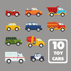 Vector set of the isolated transport icons.