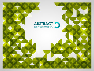 Greeen modern geometrical abstract background