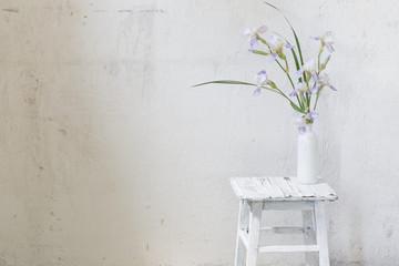 summer bouquet in white interior