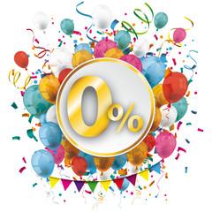 Golden Paper Circle Balloons Confetti 0 Percent