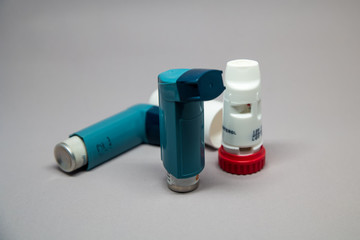 An inhaler used to counteract asthma
