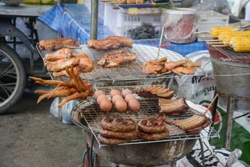 Street food on the way to Doi Suthep in Chiangmai ,Thailand
