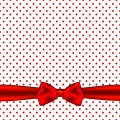 Holiday background card with bow.