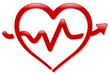 heartbeat shape