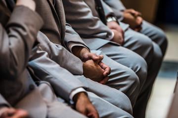 Groomsmen on the wedding ceremony