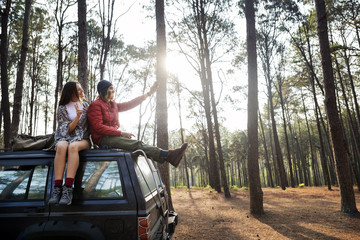 Couple Exploring Trip Holiday Concept