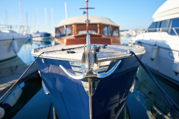 Close up of a retro yacht anchor