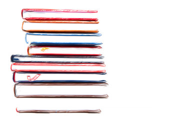 Stack of diaries 20/5000.with brushstroke on white background