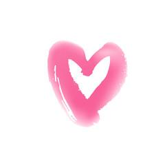 Grunge hand drawn heart symbol