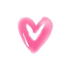 Light hand drawn heart symbol