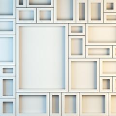 Mockup of empty white frames.