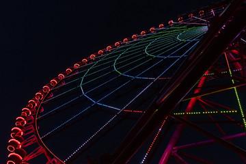 Ferris Wheel Lights. Huge Ha Long ferris wheel by night.
