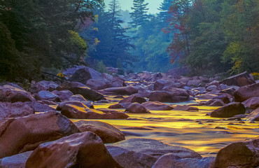 Wall Murals River Swift river in Autumn White Mountains, New Hampshire