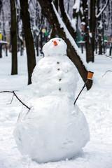 snowman on a park