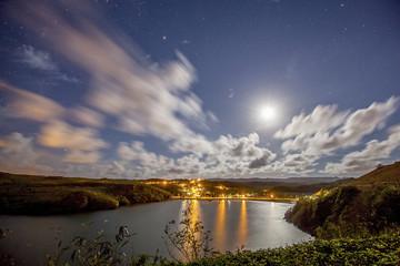 Bayside lighting by the moon.